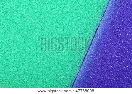 Violet green texture cellulose foam sponge background poster