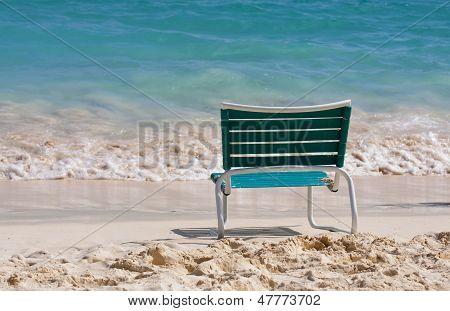 Chair on a sandy beach