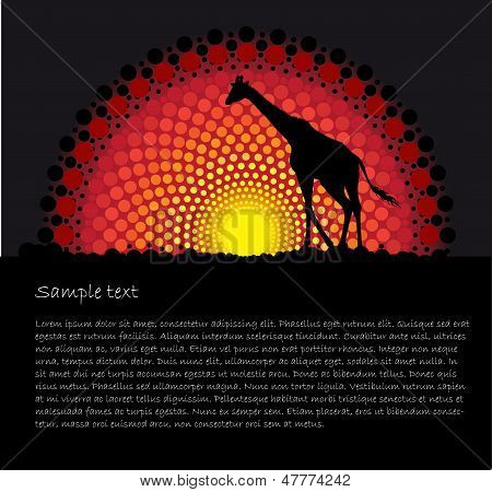 ector background with a giraffe silhouette