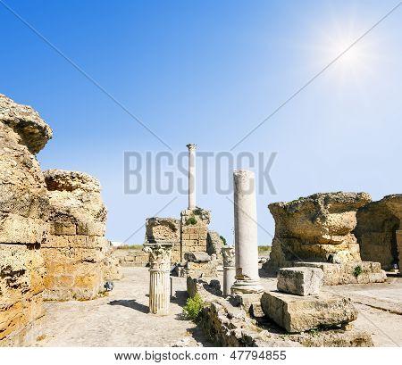 Baths Of Antonius In Carthage Tunisia