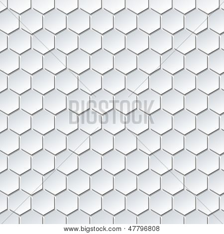 Illustration of Abstract Hexahedrons Design Background. Vector.
