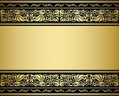 Gilded ornmaments and patterns with flourish elements for design poster