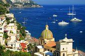 Positano on the Amalfi Coast, Italy, Europe poster