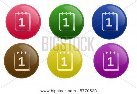 Glossy Calendar Button