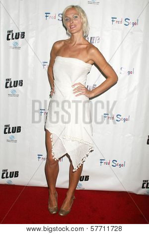 Dominika Wolski at the Birthday Celebration for Fred Segal and Charity Auction. Private Location, Malibu, CA. 08-29-09