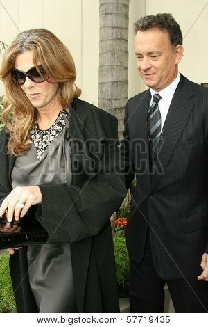 Rita Wilson and Tom Hanks at the ceremony posthumously honoring George Harrison with a star on the Hollywood Walk of Fame. Vine Boulevard, Hollywood, CA. 04-14-09