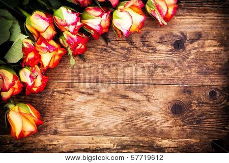 Valentines Day Background With Roses.