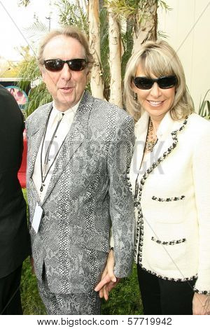 Eric Idle and Tania Kosevich at the ceremony posthumously honoring George Harrison with a star on the Hollywood Walk of Fame. Vine Boulevard, Hollywood, CA. 04-14-09