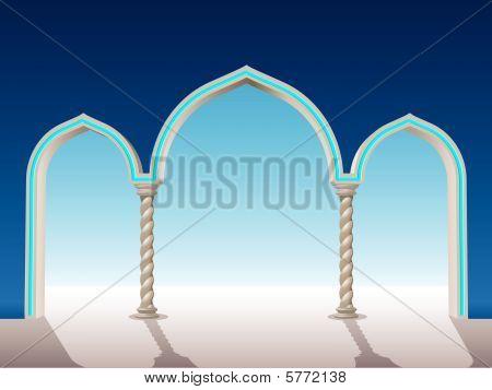 oriental archway background