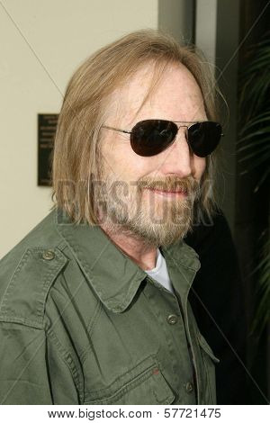 Tom Petty at the ceremony posthumously honoring George Harrison with a star on the Hollywood Walk of Fame. Vine Boulevard, Hollywood, CA. 04-14-09