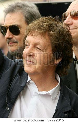 Sir Paul McCartney  at the ceremony posthumously honoring George Harrison with a star on the Hollywood Walk of Fame. Vine Boulevard, Hollywood, CA. 04-14-09