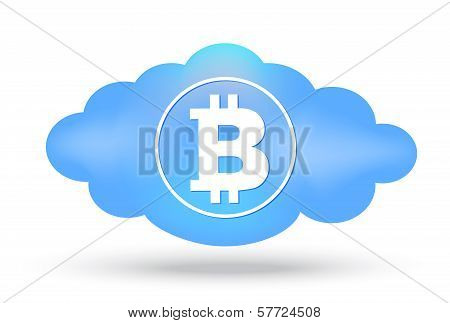 Cloud Bitcoin Presentation On White