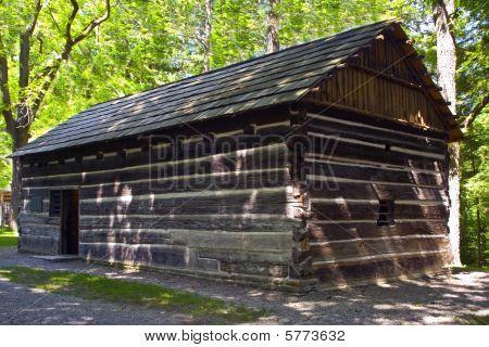Authentic Seneca Indian Council meeting house.