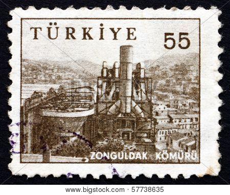 Postage Stamp Turkey 1959 Coal Mine, Zonguldak