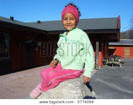 girl in kindergarden