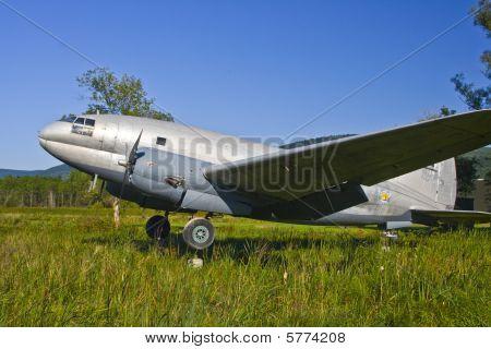 U.S. Airforce C-46 Commando airplane.