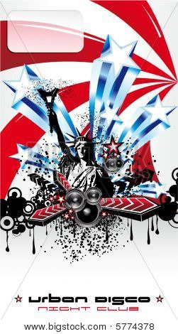 U.s.a. Abstract Music Background high contrast colours