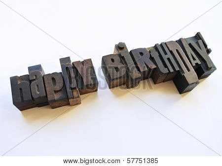 Happy Birthday Message With Letterpress