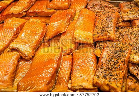 Smoked salmon for sale