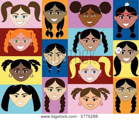 Girls Faces 2