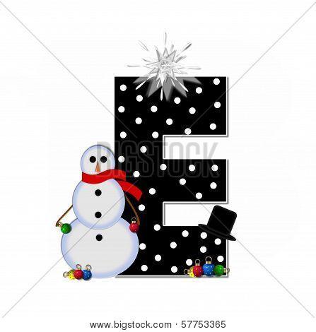 Alphabet Frosty E