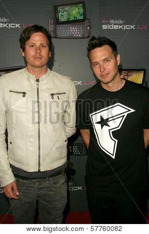 Blink-182  at the T-Mobile Sidekick LX Launch Party. Paramount Studios, Hollywood, CA. 05-14-09