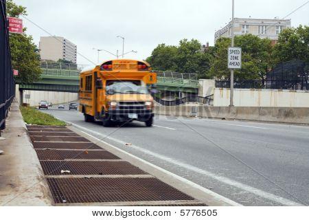 Speeding School Bus
