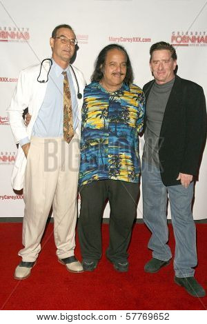 Mike Horner with Ron Jeremy and Kyle Stone  at the 'Celebrity Pornhab with Dr. Screw' Premiere Party. Les Deux, Hollywood, CA. 06-01-09