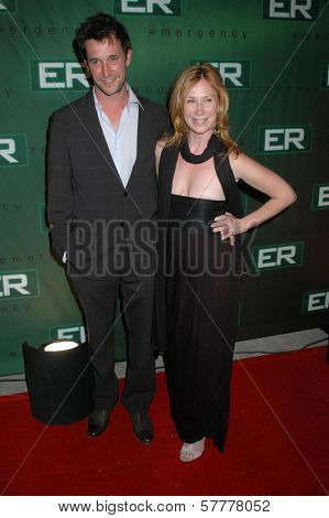 Noah Wyle and Tracy Warbin at the Party Celebrating the series finale of the television show 'ER'. Social Hollywood, Hollywood, CA. 03-28-09