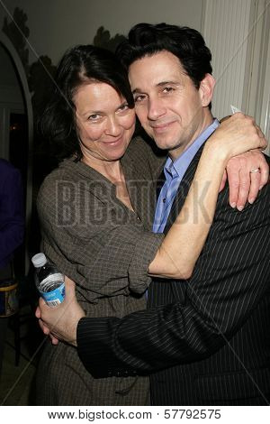 Deb Geffner and Ronnie Marmo at a party hosted by Theatre 68 to Announce the John Patrick Shanley Festival. Private Residence, Beverly Hills, CA. 02-23-09