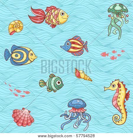 Pattern Of Underwater Fishes