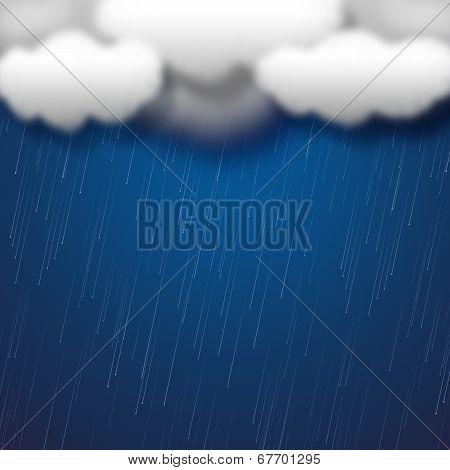 Copyspace Rain Means Clothes Line And Clothespeg