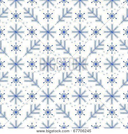 A simple winter seamless pattern
