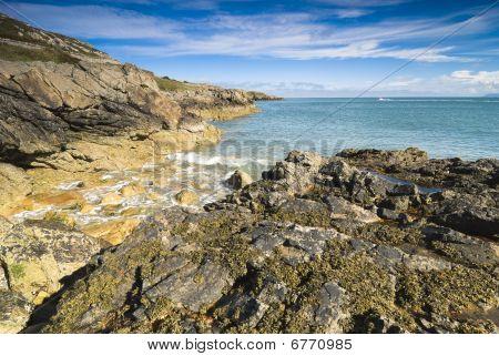 View over Irish Sea from Howth Peninsula Ireland poster