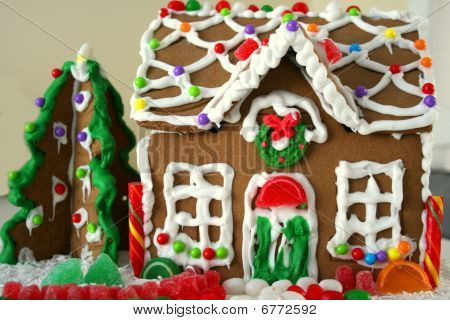 Gingerbread house at Christmas