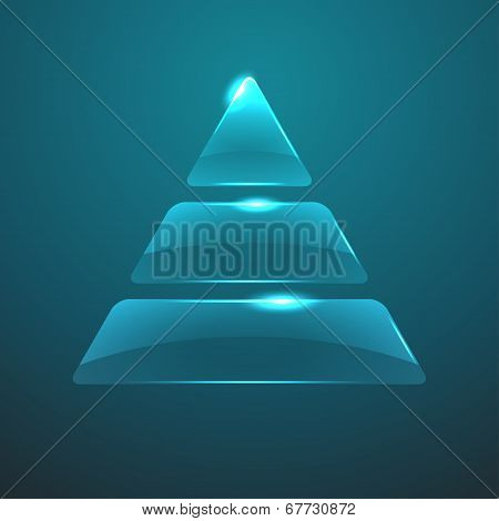 Vector glass pyramid icon. Eps10
