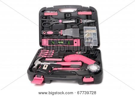 Pink Tool Set In Box