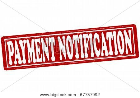 Stamp with text payment notification inside vector ilustration poster