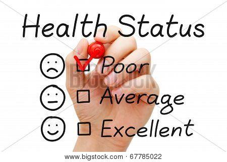 Poor Health Status Survey