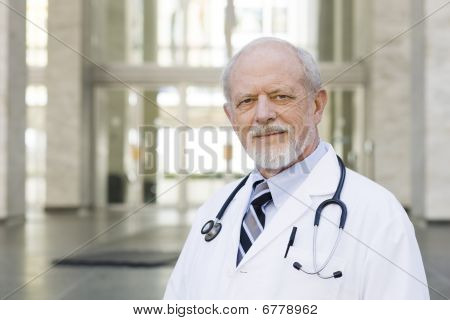Doctor Standing Outside