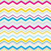 Vector color zigzag seamless pattern background. Eps10 poster