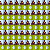 Vector retro color rhombus seamless pattern. Eps10 poster