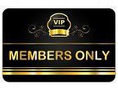 Members Only Representing Very Important Person And Membership Card poster