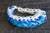 Colorful Rainbow loom bracelet rubber bands fashion poster