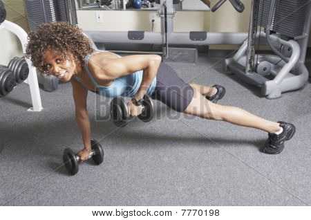 Woman Weight Training