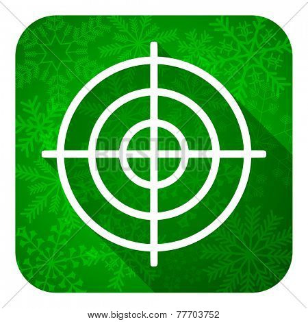 target flat icon, christmas button