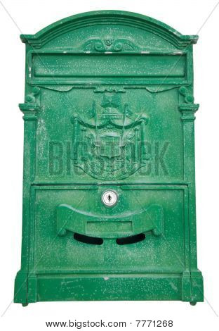 Green Post box.