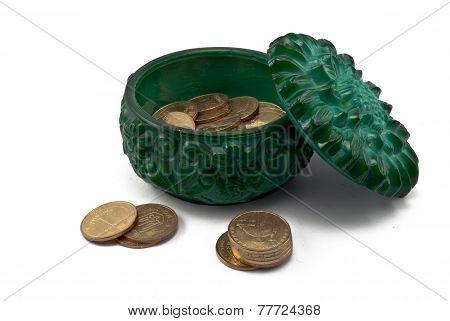 Malachite Small Box With Chinks
