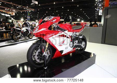 Bangkok - November 28: Agusta F4 Motorcycle On Display At The Motor Expo 2014 On November 28, 2014 I