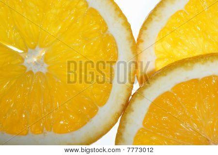 Lemon Slices On A White Background